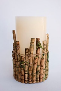 Bamboo candle
